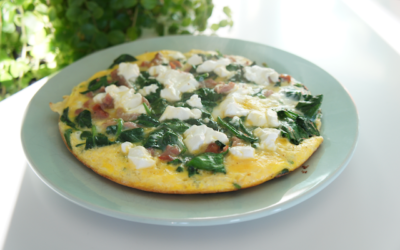 Spinazie bacon frittata