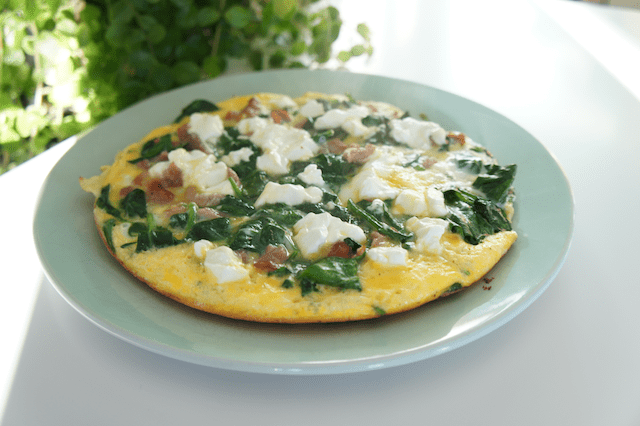 spinazie bacon frittata recept