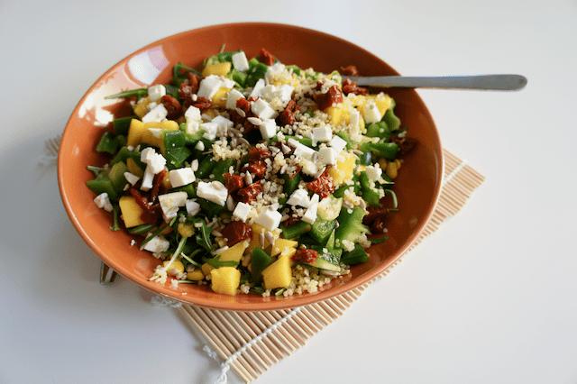 quinoa mangosalade recept