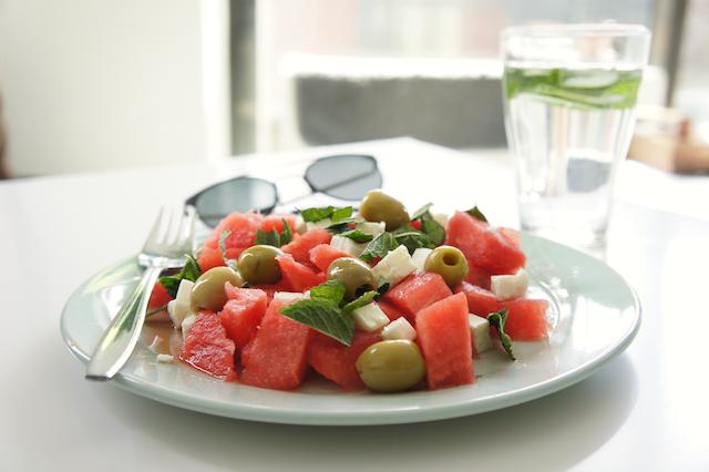 salade met watermeloen recept