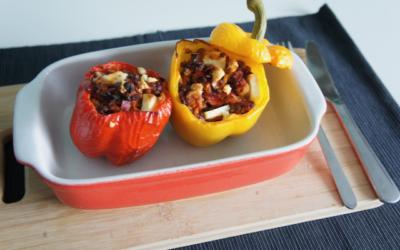 Gevulde paprika met kipgehakt