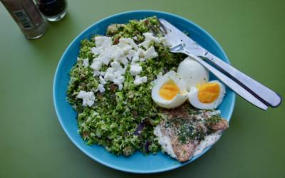 Broccolirijst met zalm