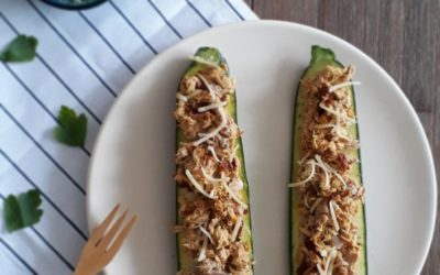 Courgette tuna melt