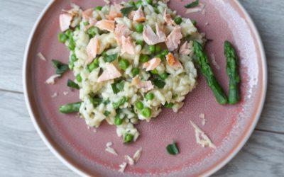 Groene asperge risotto